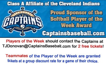 Lake County Captains Player of the Week