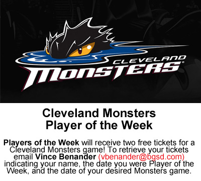 Lake Erie Monsters Player of the Week